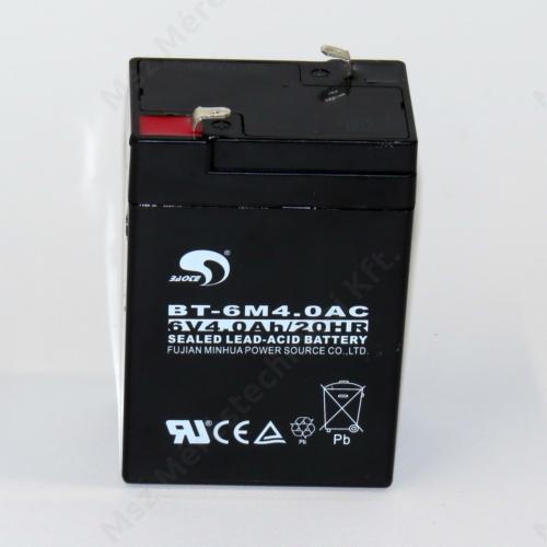ALK00001, Akkumulátor, 6V4Ah